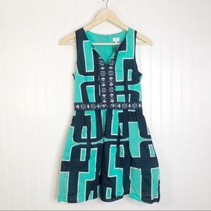 Crown & ivy sleeveless mini dress green blue 2P